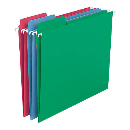 Smead® FasTab® Hanging File Folders, Letter Size, Assorted Colors, Pack Of 18