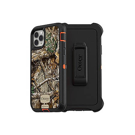 OtterBox Defender Carrying Case (Holster) Apple iPhone 11 Pro Max Smartphone - Realtree Edge Camo - Polycarbonate Holster, Polycarbonate Shell, Synthetic Rubber Cover - Belt Clip