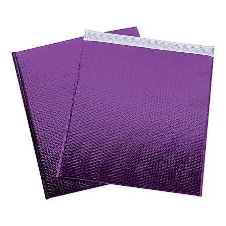 """Office Depot® Brand Glamour Bubble Mailers, 22-1/2""""H x 19""""W x 3/16""""D, Purple, Pack Of 48 Mailers"""