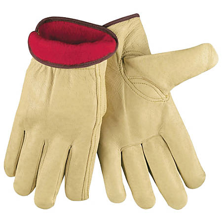 Memphis Glove Insulated Premium-Grain Pigskin Leather Drivers' Gloves, X-Large, Pack Of 12