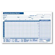 ComplyRight Small Attendance Record Cards 8