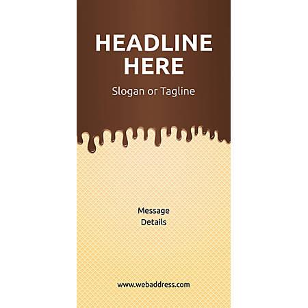 Custom Vertical Banner, Chocolate Wafer