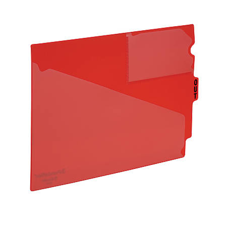 Pendaflex® End-Tab Out Guides, Center-Cut Tab, Letter Size, Red, Box Of 50
