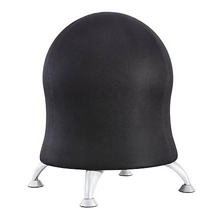 """Safco® Zenergy Exercise Ball Stool, 23""""H x 22 1/2""""W x 22 1/2""""D, Black"""