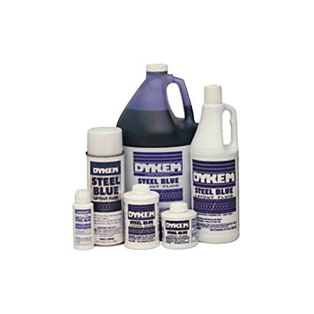 ITW Professional Brands DYKEM® Layout Fluid, Brush-In-Cap, 4 Oz, Blue