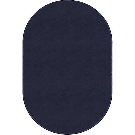 Flagship Carpets Americolors Rug, Oval, 12' x 18', Navy