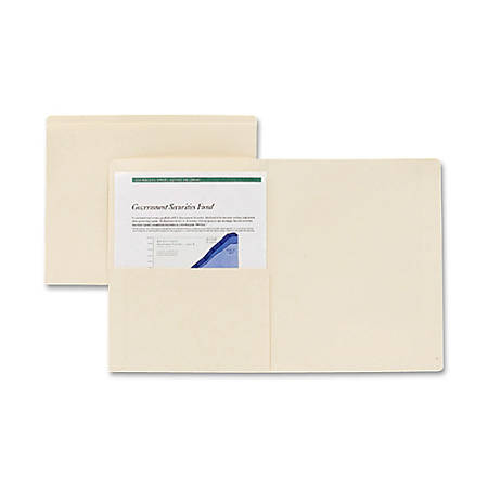 Pendaflex® Manila Top-Tab Pocket Folders, Letter Size, Straight Cut, Box Of 50