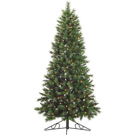 Fraser Hill Farm Snowy Pine Christmas Tree, Unlit, 7.5'