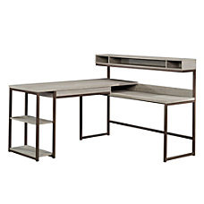 Sauder Manhattan Gate L Desk Mystic