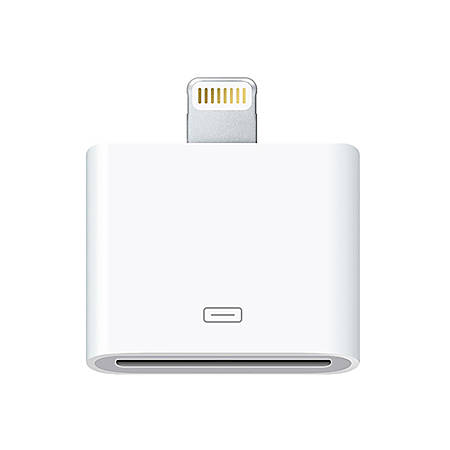 4XEM 8-Pin Lightning To 30-Pin Adapter for iPhones 5 5S 6 6S 6Plus 7 7Plus /iPods/iPads - 1 x Lightning Male Proprietary Connector - 1 x Female Proprietary Connector - White