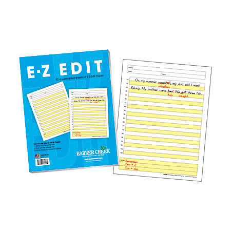 Barker Creek® E-Z Edit Paper Set, Grades 1-College, 50 Sheets