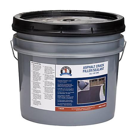 Bare Ground Solutions 1 Shot Asphalt Crack Filler And Sealant, 128 Oz, Black