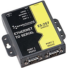 Brainboxes 2 Port RS232 Ethernet to
