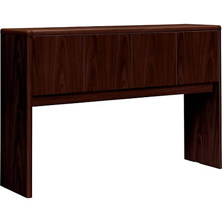 """HON® 10700 Series™ Laminate Closed Hutch, For Use With 60"""" Kneespace Credenza, Mahogany"""