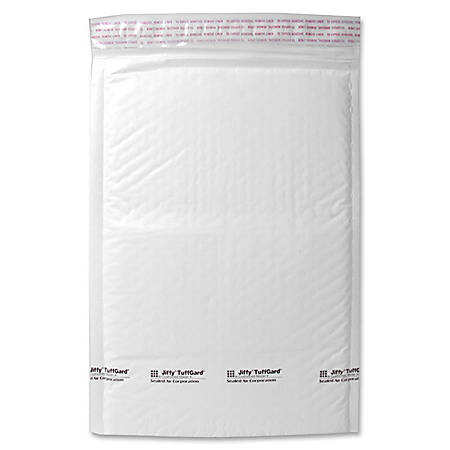"""Sealed Air Tuffgard Premium Cushioned Mailers - Bubble - #5 - 10 1/2"""" Width x 16"""" Length - Peel & Seal - Poly - 25 / Carton - White"""