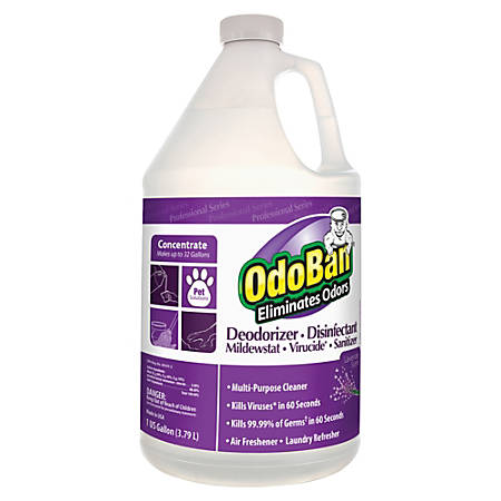 OdoBan® Multi-Purpose Deodorizer & Disinfectant Concentrate, Lavender Scent, 1 Gallon
