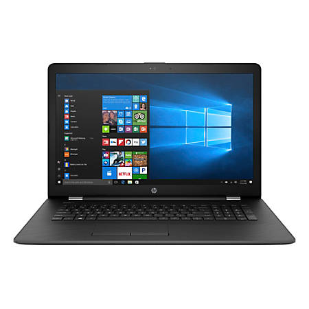 "HP 17-ak010nr Laptop, 17.3"" Screen, 7th Gen AMD A9, 4GB Memory, 500GB Hard Drive, Windows® 10 Home"