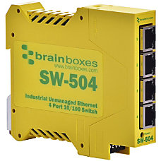 Brainboxes Industrial Ethernet 4 Port Switch