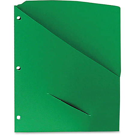 "Pendaflex Slash Pocket Project Folders - Letter - 8 1/2"" x 11"" Sheet Size - 11 pt. Folder Thickness - Stock - Assorted - Recycled - 25 / Pack"
