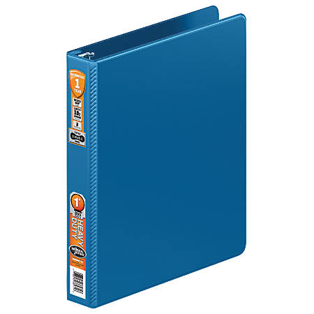 "Wilson Jones® Heavy-Duty Round-Ring Binder, 1"" Rings, 45% Recycled, PC Blue"