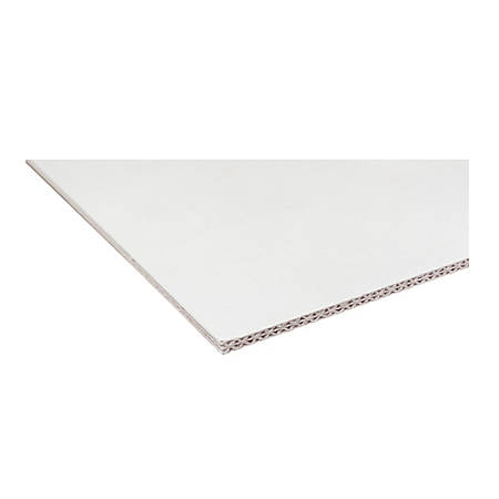 """Pacon Rigid Display Board - 28"""" Height x 20"""" Width - White Surface - 10 / Carton"""