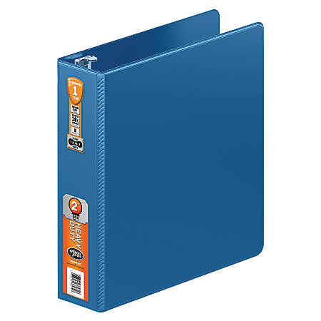 "Wilson Jones® Heavy-Duty Round-Ring Binder, 2"" Rings, 45% Recycled, PC Blue"