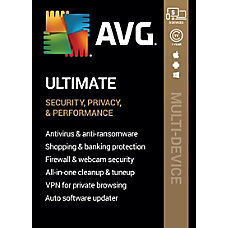 AVG Ultimate Software For 5 Devices
