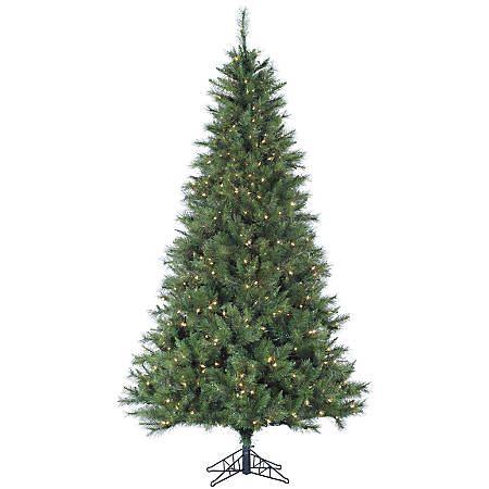 Canyon Pine Artificial Christmas Tree, 7 1/2', 500 LED Clear Lights, Green/Black