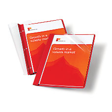 Office Depot Leatherette Clear Front Report