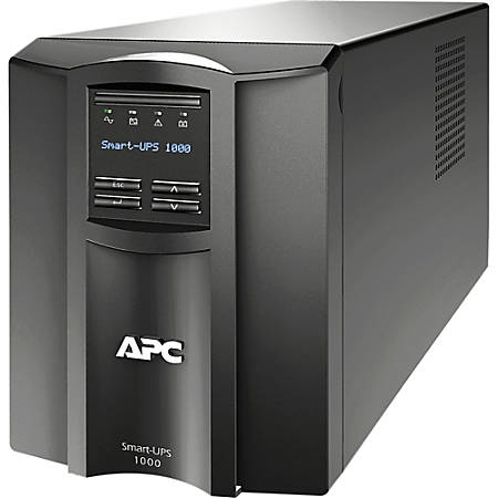 APC by Schneider Electric Smart-UPS SMT1000I 1000 VA Tower UPS - Tower - 6 Minute Stand-by - 230 V AC Output