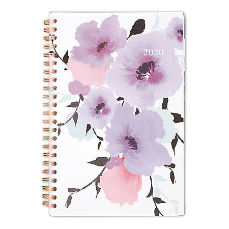 """Cambridge® Mina Weekly/Monthly Planner, 5-1/2"""" x 8-1/2"""", Purple/Pink, January To December 2020, 1134-200"""