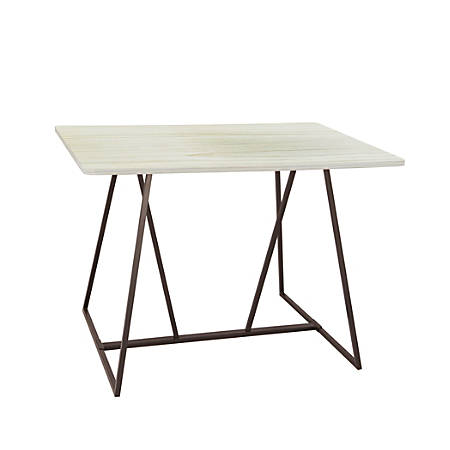 """Safco® Oasis Sit-Height Teaming Table, Rectangular, 42"""", Weathered White/Black"""