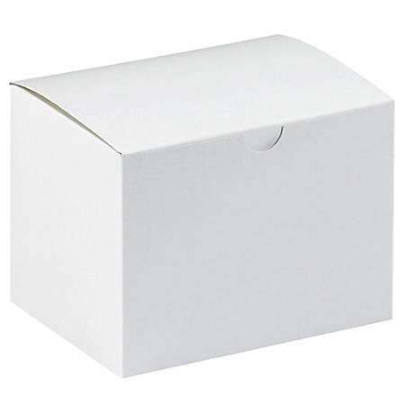 "Office Depot® Brand Gift Boxes, 6""L x 4 1/2""W x 4 1/2""H, 100% Recycled, White, Case Of 100"