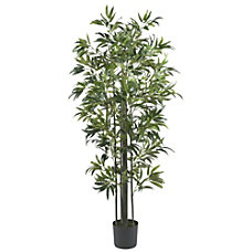 Nearly Natural 6H Silk Bamboo Tree