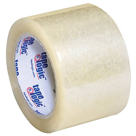 """Tape Logic® #350 Industrial Acrylic Tape, 3"""" Core, 3"""" x 55 Yd., Clear, Case Of 6"""