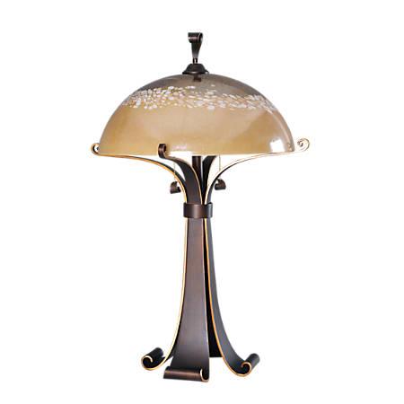 "Kenroy Home Santa Fe Table Lamp, 17-7/8""H, Copper Shade/Chocolate Caramel Base"
