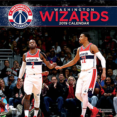 "Turner Sports Monthly Wall Calendar, 12"" x 12"", Washington Wizards, January to December 2019"