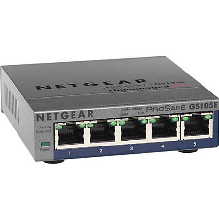 Netgear® ProSafe Plus 5-Port Gigabit Ethernet Switch