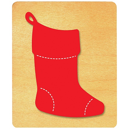 ellison prestige surecut die holidays celebrations large christmas stocking by office depot officemax - Large Christmas Stockings