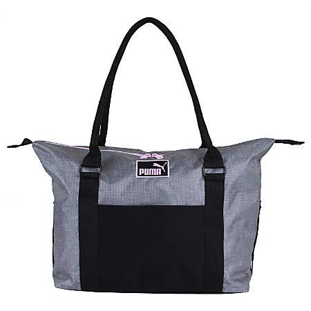 PUMA Jane Tote Bag, Black/Gray