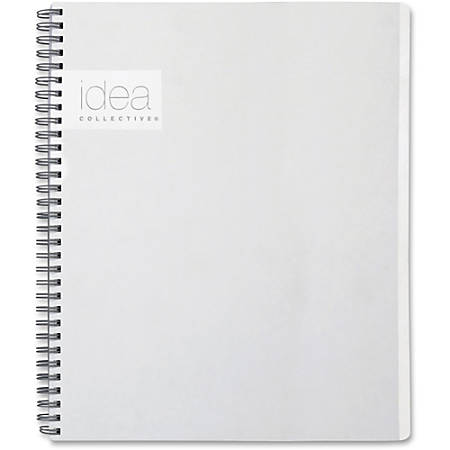 "TOPS Idea Collective Action Notebook - Twin Wirebound - College Ruled - 8 3/4"" x 11"" - White Cover - 1Each"