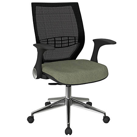 Office Star™ Pro-Line II ProGrid Fabric High-Back Chair, Sage/Black/Silver
