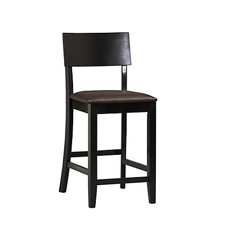 Terrific Linon Home Decor Products Torino Bar Stool 24H Dark Brown Black Item 632528 Unemploymentrelief Wooden Chair Designs For Living Room Unemploymentrelieforg