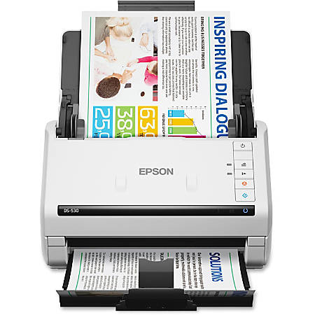 Epson® WorkForce DS-530 Color Duplex Sheetfed Scanner, White