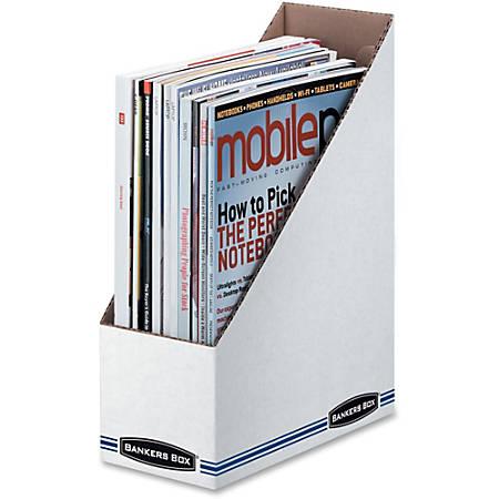 Fellowes Stor/File?¢ Magazine Files - Letter - White - Cardboard - 12 / Carton