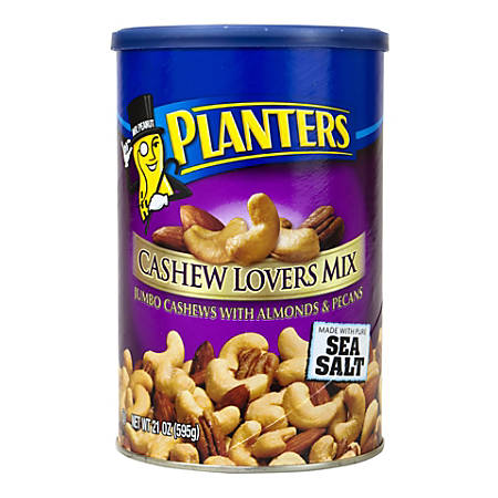 Planters Cashew Lovers Mix With Sea Salt, 21-Oz Canister