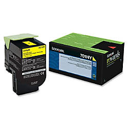Lexmark 70C1HY0 High Yield Yellow Toner