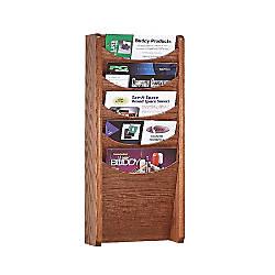 Wood Display Unit 5 Pockets 24