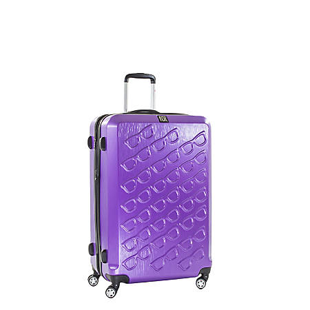 "ful Sunglasses ABS Upright Rolling Suitcase, 21""H x 14""W x 9""D, Purple"