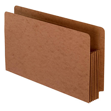 """Pendaflex® Extra-Heavy-Duty Expansion Shelf File Pockets, 5 1/4"""" Expansion, Legal Size, 30% Recycled, Red, Pack Of 10 Pockets"""